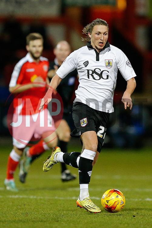 Luke Ayling of Bristol City in action - Photo mandatory by-line: Rogan Thomson/JMP - 07966 386802 - 20/12/2014 - SPORT - FOOTBALL - Crewe, England - Alexandra Stadium - Crewe Alexandra v Bristol City - Sky Bet League 1.