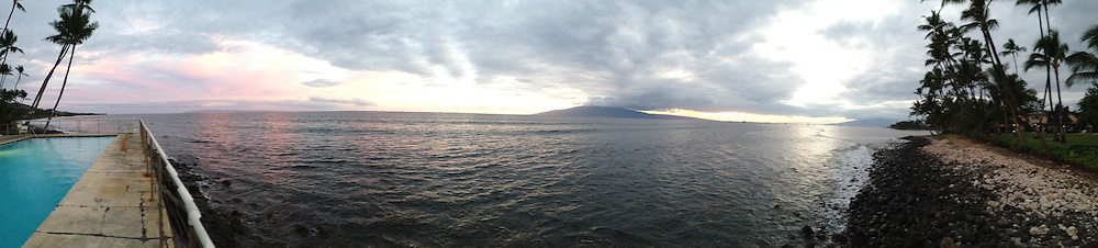 Sunset Over Maui Channel, Lahaina, Maui, Hawaii, US