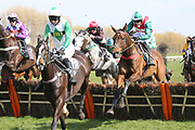 THEATRE LEGEND (3) ridden by Sean Quinlan and trained by Chris Grant winning The Remus Uomo Handicap Hurdle Race over 2m (£16,800)  during the Scottish Grand National, Ladies day at Ayr Racecourse, Ayr, Scotland on 12 April 2019.