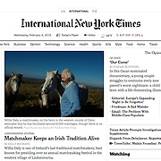 "Screengrab of ""A Matchmaker and a Festival Keep an Irish Tradition Alive"" published in The New York Times"