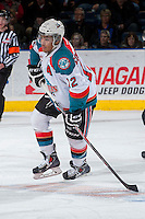 KELOWNA, CANADA -FEBRUARY 25:Tyrell Goulbourne #12 of the Kelowna Rockets skates against the Prince George Cougars  on February 25, 2014 at Prospera Place in Kelowna, British Columbia, Canada.   (Photo by Marissa Baecker/Getty Images)  *** Local Caption *** Tyrell Goulbourne;