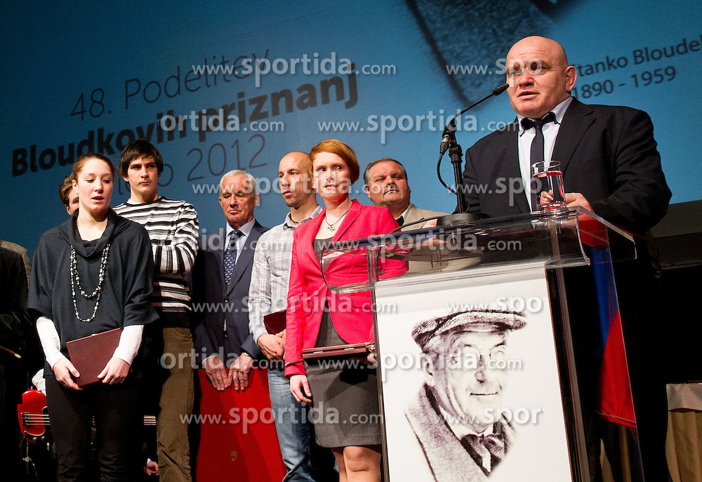 Marjan Fabjan ® at 48th Annual Awards of Stanko Bloudek for sports achievements in Slovenia in year 2012 on February 12, 2013 in Grand Hotel Union, Ljubljana, Slovenia. (Photo By Vid Ponikvar / Sportida)