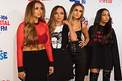 © Licensed to London News Pictures. 03/12/2016. JESY NELSON, JADE THIRWALL  PERRIE EDWARDS and LEIGH-ANN PINNOCK of LITTLE MIX attend Capital's Jingle Bell Ball with Coca-Cola at London's O2 Arena London, UK. Photo credit: Ray Tang/LNP