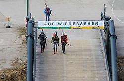 22.03.2018, Pichl-Preunegg bei Schladming, AUT, Red Bull Der lange Weg, Überquerung Alpenhauptkamm, längste Skitour der Welt, im Bild v. l. David Wallmann (AUT), Bernhard Hug (SUI), Philipp Reiter (GER), temporärer Begleiter Toni Pilz (AUT) // during the Red Bull Der lange Weg, crossing of the main ridge of the Alps, longest ski tour of the world, in Pichl-Preunegg near Schladming, Austria on 2018/03/22. EXPA Pictures © 2018, PhotoCredit: EXPA/ Martin Huber
