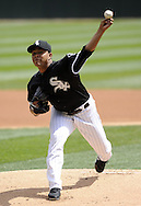 CHICAGO - APRIL 24:  Carlos Quintana #62 of the Chicago White Sox pitches against the Cleveland Indians on April 24, 2013 at U.S. Cellular Field in Chicago, Illinois.  The White Sox defeated the Indians 3-2.  (Photo by Ron Vesely)   Subject: Carlos Quintana