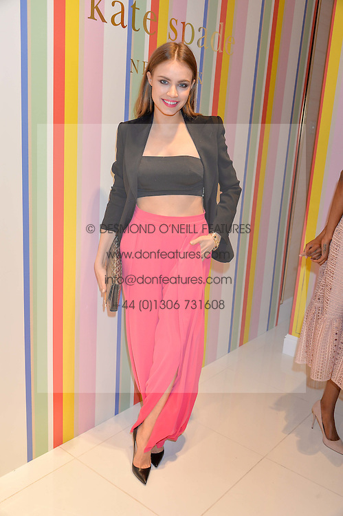 XENIA TCHOUMI at the opening party of the new Kate Spade New York store at 182 Regent Street, London on 21st April 2016.
