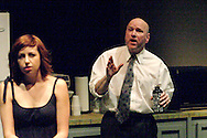 Heather Atkinson as Una (left) and K. L. Storer as Ray during a dress rehearsal of Blackbird at the Dayton Theatre Guild, Thursday, April 21, 2011.