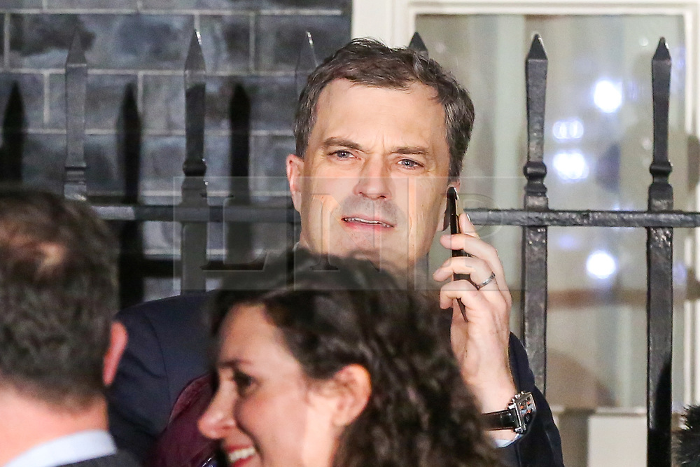 © Licensed to London News Pictures. 19/11/2018. London, UK. Julian Smith - Parliamentary Secretary to the Treasury (Chief Whip) leaves No 10 Downing Street just before the Christmas lights switching on ceremony after meeting the Prime Minister Theresa May. Photo credit: Dinendra Haria/LNP