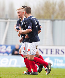Falkirk's Craig Sibbald (7) celebrates after scoring their first goal..Falkirk 4 v 1 Morton, 4/5/2013..© Michael Schofield..