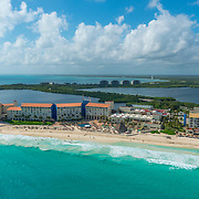 Aerial view of the Westin Cancun.