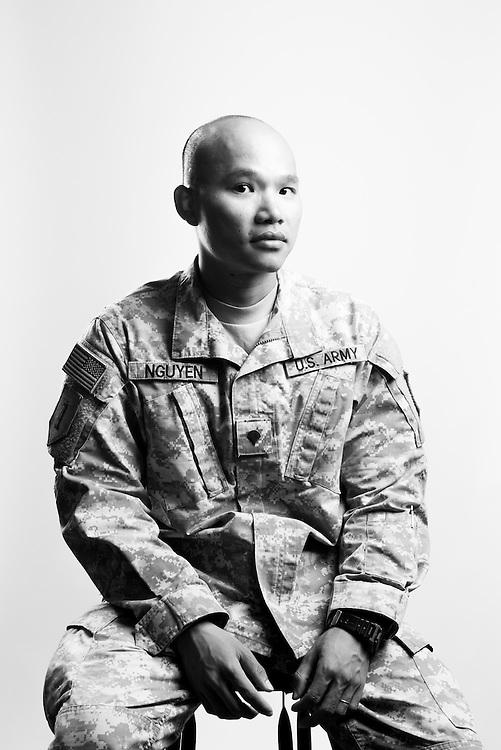 Kong Nguyen<br /> Army<br /> E-4<br /> Infantry<br /> Nov. 7, 2011 - Present<br /> HOA<br /> <br /> <br /> Veterans Portrait Project<br /> Junction City, KS