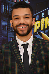 May 2, 2019 - New York City, New York, U.S. - Actor JUSTICE SMITH attends the US premiere of Pokemon Detective Pikachu held at Military Island Times Square. (Credit Image: © Nancy Kaszerman/ZUMA Wire)