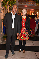 """Dr Mitch Besser and Annie Lennox at the opening of """"Frida Kahlo: Making Her Self Up"""" Exhibition at the V&A Museum, London England. 13 June 2018."""