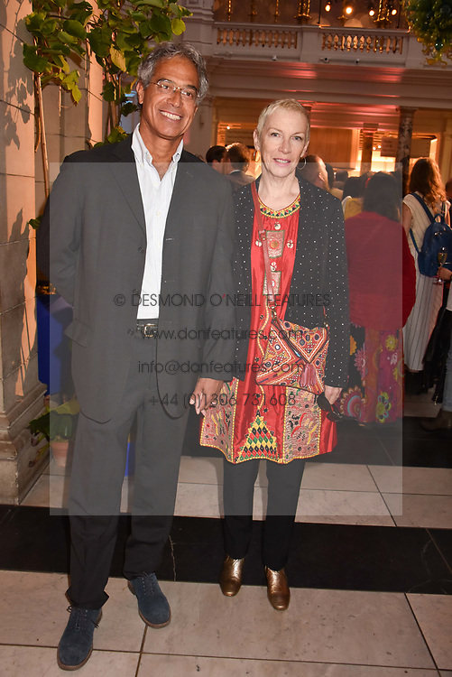"Dr Mitch Besser and Annie Lennox at the opening of ""Frida Kahlo: Making Her Self Up"" Exhibition at the V&A Museum, London England. 13 June 2018."