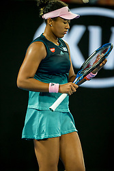 January 26, 2019 - Melbourne, VIC, U.S. - MELBOURNE, AUSTRALIA - JANUARY 26 : Naomi Osaka of ÊJapan in action during the final on day 13 of the Australian Open on January 26 2019, at Melbourne Park in Melbourne, Australia.(Photo by Jason Heidrich/Icon Sportswire) (Credit Image: © Jason Heidrich/Icon SMI via ZUMA Press)