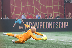August 1, 2018 - Atlanta, Georgia, United States - MLS All-Star goalkeeper BRAD GUZAN, 1, (Atlanta United) makes a save during the 2018 MLS All-Star Game at Mercedes-Benz Stadium in Atlanta, Georgia.  Juventus F.C. defeats  MLS All-Stars defeat  1 to 1  (Credit Image: © Mark Smith via ZUMA Wire)
