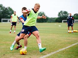 George Dowling and Harvey Smith in action as Bristol City Under 23s return for a second day of training ahead of their 2017/18 Season - Rogan/JMP - 01/07/2017 - Failand Training Ground - Bristol, England.