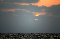 ISRAEL MEDITERRANEAN SEA 12JUL10 - Sunset over the Eastern Mediterranean Sea, off the coast of Israel...jre/Photo by Jiri Rezac