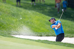 June 2, 2018 - Dublin, OH, U.S. - DUBLIN, OH - JUNE 02: Patrick Reed chips a shot out of the bunker during the third round of the Memorial Tournament at Muirfield Village Golf Club in Dublin, Ohio on June 02, 2018.(Photo by Adam Lacy/Icon Sportswire) (Credit Image: © Adam Lacy/Icon SMI via ZUMA Press)