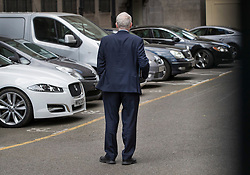 © Licensed to London News Pictures.18/04/2017.London, UK. Labour Party leader Jeremy Corbyn looks for his car as he leaves his office in Parliament after Prime Minister Theresa May called a surprise general election for June 8th. Photo credit: Peter Macdiarmid/LNP