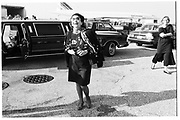 Cecile Zilkha 1989  in JFK waiting for plane to go to Forbes party , Tangier.© Copyright Photograph by Dafydd Jones 66 Stockwell Park Rd. London SW9 0DA Tel 020 7733 0108 www.dafjones.com