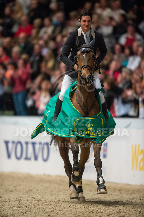 Steve Guerdat (SUI) & Nino des Buissonnets, winners of Round 2 of the Rolex FEI World Cup Jumping Final - Gothenburg Horse Show 2013 - Scandinavium, Gothenburg, Sweden - 26 April 2013