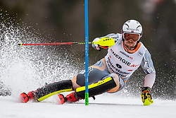 01.03.2020, Hannes Trinkl Weltcupstrecke, Hinterstoder, AUT, FIS Weltcup Ski Alpin, Alpine Kombination, Herren, Slalom, im Bild Aleksander Aamodt Kilde (NOR) // Aleksander Aamodt Kilde of Norway in action during his Slalom run of men's Alpine combined of FIS ski alpine world cup at the Hannes Trinkl Weltcupstrecke in Hinterstoder, Austria on 2020/03/01. EXPA Pictures © 2020, PhotoCredit: EXPA/ Johann Groder