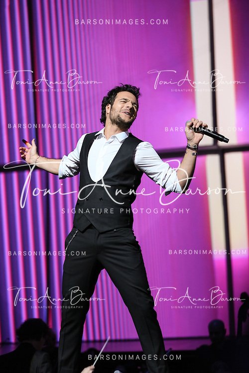 "PARIS, FRANCE - FEBRUARY 10:  Amir Haddad performs during the ""32nd Victoires de la Musique 2017"" at Le Zenith on February 10, 2017 in Paris, France.  (Photo by Tony Barson/FilmMagic)"