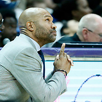 LOS ANGELES, CA - JUN 30: LA Sparks head coach Derek Fisher is seen during a game on June 30, 2019 at the Staples Center, in Los Angeles, California.