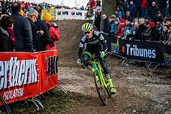 DURRIN Jeremy (USA) during the Men Elite race, UCI Cyclo-cross World Cup #8 at Hoogerheide, Noord-Brabant, The Netherlands, 22 January 2017. Photo by Pim Nijland / PelotonPhotos.com | All photos usage must carry mandatory copyright credit (Peloton Photos | Pim Nijland)
