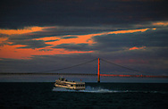 Mackinaw Bridge on Alumni Weekend 10/2016. Photo by Steve Jessmore/Central Michigan University