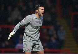 STEVENAGE, ENGLAND - Saturday, November 24, 2012: Stevenage's goalkeeper Steve Arnold in action against Tranmere Rovers during the Football League One match at Broadhall Way. (Pic by David Rawcliffe/Propaganda)