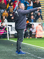 Football - 2017 / 2018 Premier League - Swansea City vs. Leicester City<br /> <br /> Leicester City caretaker manager Michael Appleton on the touchline, at the Liberty Stadium.<br /> <br /> COLORSPORT/WINSTON BYNORTH