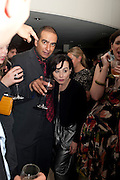 IQBAL KHAN; TARA FITZGERALD, The opening night of Broken Glass at the Vaudeville Theatre. Followed by  the after show party is at One Aldwych. London. 16 September 2011. <br />  , -DO NOT ARCHIVE-© Copyright Photograph by Dafydd Jones. 248 Clapham Rd. London SW9 0PZ. Tel 0207 820 0771. www.dafjones.com.