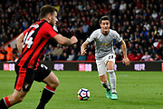 Ander Herrera (21) of Manchester United on the attack during the Premier League match between Bournemouth and Manchester United at the Vitality Stadium, Bournemouth, England on 18 April 2018. Picture by Graham Hunt.