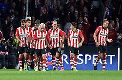 15-09-2015 NED: UEFA CL PSV - Manchester United, Eindhoven<br /> PSV kende een droomstart in de Champions League. De Eindhovenaren waren in eigen huis te sterk voor de miljoenenploeg Manchester United: 2-1 / PSV scoort de 1-1