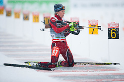 Soulie Laure of Andora competes during Ladies 7,5 km Sprint of the e.on IBU Biathlon World Cup on Thursday, December 14, 2012 in Pokljuka, Slovenia. The third e.on IBU World Cup stage is taking place in Rudno polje - Pokljuka, Slovenia until Sunday December 16, 2012. (Photo By Vid Ponikvar / Sportida.com)