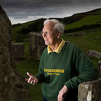 Professor Terence Meaden pictured at Drombeg Stone Circle on Monday 19th September 2016.<br /> Picture: Emma Jervis Photography