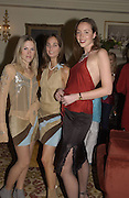 Sarah James, Kerry Collins and Sarah Gellately-Smith. Party for fashion designer, Rebecca Davis hosted by Normandie Keith. Harrington Club. 18 February 2001. © Copyright Photograph by Dafydd Jones 66 Stockwell Park Rd. London SW9 0DA Tel 020 7733 0108 www.dafjones.com