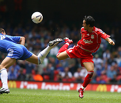 CARDIFF, WALES - SUNDAY, AUGUST 13th, 2006: Liverpool's Luis Garcia and Chelsea's John Terry during the Community Shield match at the Millennium Stadium. (Pic by David Rawcliffe/Propaganda)