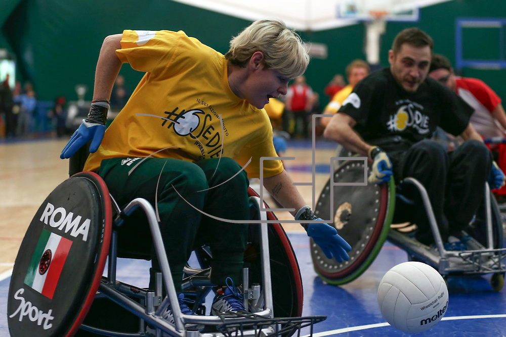 Roma 03/02/2018 Palaluiss<br /> Wheelchair Rugby <br /> 6 ruote