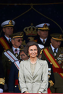 Queen Sofia of Spain attends the Oath of Allegiance of the Civil People at El Pardo Palace on May 4, 2012 in Madrid, Spain.