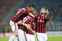 Milano - 28.09.2017 - Milan-Rijeka - Europa League   - nella foto:  l'esultanza dei giocatori del Milan
