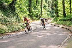 Ellen van Dijk speeds through the forests at Boels Hills Classic 2016. A 131km road race from Sittard to Berg en Terblijt, Netherlands on 27th May 2016.
