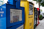 UNITED STATES-WASHINGTON DC-Newspapers. PHOTO: GERRIT DE HEUS..VERENIGDE STATEN-WASHINGTON DC-Krantenautomaten. PHOTO COPYRIGHT GERRIT DE HEUS