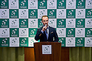 Radoslaw Szymanik - captain national team while official dinner at Regent Hotel two days before the BNP Paribas Davis Cup 2014 between Poland and Croatia at Torwar Hall in Warsaw on April 2, 2014.<br /> <br /> Poland, Warsaw, April 2, 2014<br /> <br /> Picture also available in RAW (NEF) or TIFF format on special request.<br /> <br /> For editorial use only. Any commercial or promotional use requires permission.<br /> <br /> Mandatory credit:<br /> Photo by &copy; Adam Nurkiewicz / Mediasport