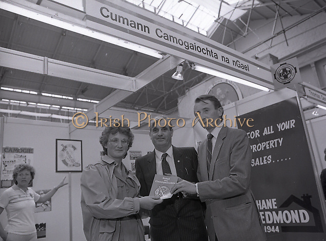Opening of G.A.A. Centenary Exhibition at R.D.S.'s main hall, Merrion Road, Dublin,<br /> 16th May 1984