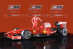 Felipe Massa with the new Ferrari F60 is launched. 12/01/2009 in Maranello,Italy.