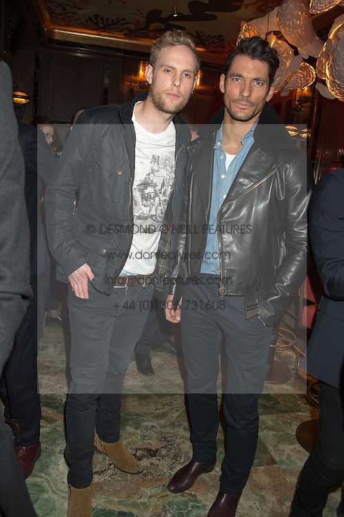 Left to right, JACK FOX and DAVID GANDY at the launch of the new Matchless Star Wars collection at Sexy Fish, Berkeley Square, London on 4th November 2015.