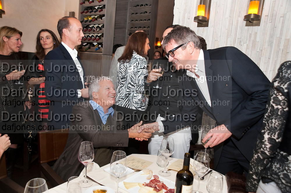 LARRY GAGOSIAN; JAY JOPLING, Aby Rosen & Samantha Boardman Dinner at Solea,Collins ave,  Miami Beach. 2 December 2010. -DO NOT ARCHIVE-© Copyright Photograph by Dafydd Jones. 248 Clapham Rd. London SW9 0PZ. Tel 0207 820 0771. www.dafjones.com.
